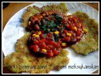 placki ziemniaczane z sosem meksykańskim