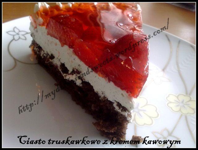 ciasto truskawkowe z kremem kawowym