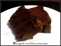 murzynek z konfiturą wiśniową
