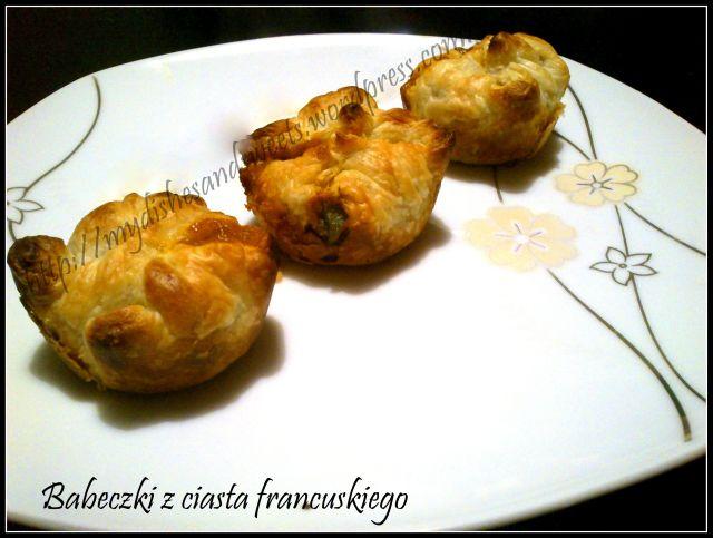 babeczki z ciasta francuskiego