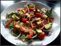 Kolorowa sałatka z avocado