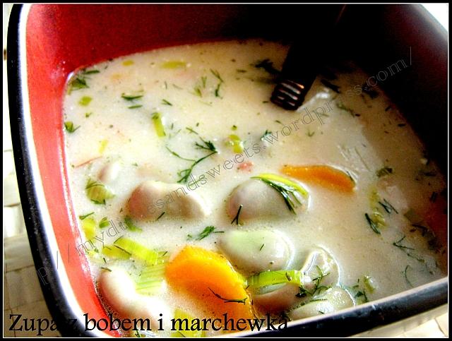 zupa z bobem i marchewką