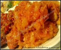 salsa rybna ryba w cieście naleśnikowym z ananasem