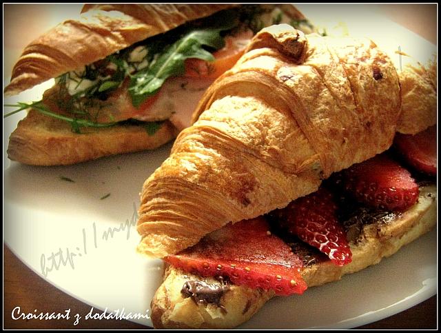 Croissant na słodko i wytrawnie