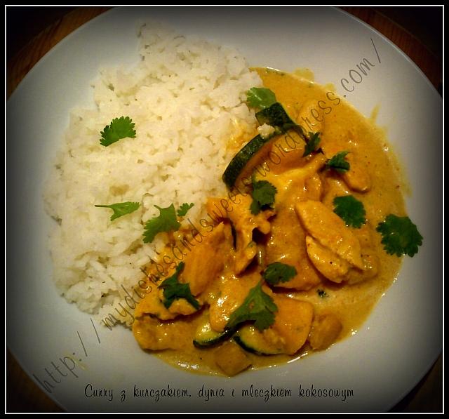 Curry z dynią i kurczakiem z mleczkiem kokosowym