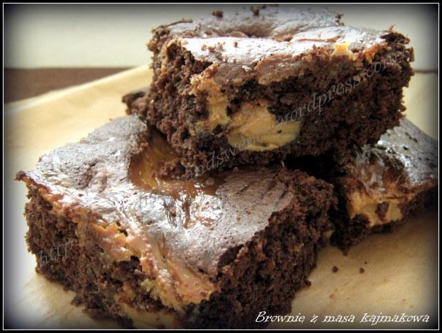 brownie z masą kajmakową