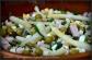 sałatka z szparagami, szynką i groszkiem