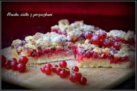 kruche ciasto z porzeczkami