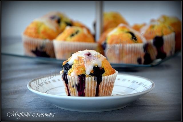muffinki z borówką