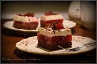 Ciasto z malinami i śmietaną