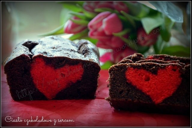 Ciasto czekoladowe z sercem