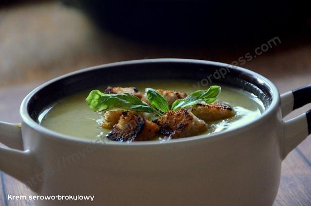Krem serowo- brokułowy